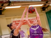 WNBL Division 1 - 18 February, 2017 - St Marys Leisure Cent. : Inga Mucinlece (15) and E Maidman (8) during match between Solent Kestrels Women and Charnwood CR (Photo by NGS/MirrorBoxStudios)