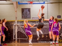 WNBL Division 1 - 18 February, 2017 - St Marys Leisure Cent. : Kalina Axentieva (6) going for goal during match between Solent Kestrels Women and Charnwood CR (Photo by NGS/MirrorBoxStudios)