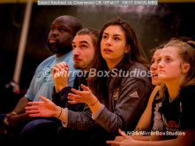 WNBL Division 1 - 18 February, 2017 - St Marys Leisure Cent. : All eyes from the Solent bench on the ball during match between Solent Kestrels Women and Charnwood CR (Photo by NGS/MirrorBoxStudios)