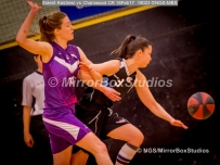 WNBL Division 1 - 18 February, 2017 - St Marys Leisure Cent. : A Forsyth (14) and Andrea Kurkowski (9) lock arms during match between Solent Kestrels Women and Charnwood CR (Photo by NGS/MirrorBoxStudios)