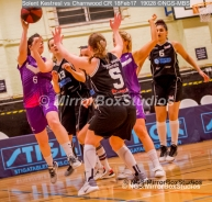 WNBL Division 1 - 18 February, 2017 - St Marys Leisure Cent. : L Ragan (6) with a great pass during match between Solent Kestrels Women and Charnwood CR (Photo by NGS/MirrorBoxStudios)