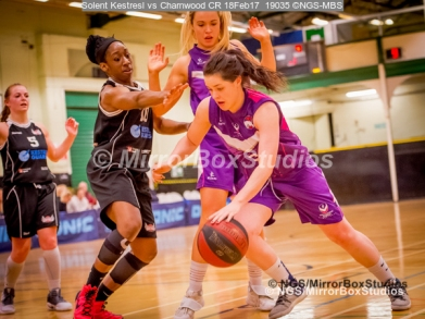 WNBL Division 1 - 18 February, 2017 - St Marys Leisure Cent. : Ekemini Essien (10) during match between Solent Kestrels Women and Charnwood CR (Photo by NGS/MirrorBoxStudios)