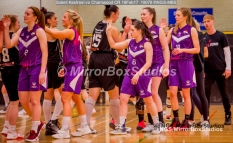 WNBL Division 1 - 18 February, 2017 - St Marys Leisure Cent. : High Fives all round - and well deserved to all players during match between Solent Kestrels Women and Charnwood CR (Photo by NGS/MirrorBoxStudios)