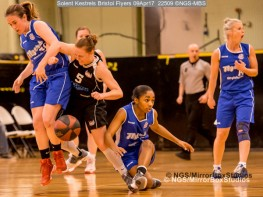 WNBL Division 1 - 9 April, 2017 - St Marys Leisure Cent. : XXXXX during match between Solent Kestrels Women and Bristol Flyers (Photo by NGS/MirrorBoxStudios)