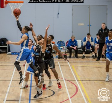 Kestrels v Trailbrazers 10 11 2018 : (Photo by Nick Guise-Smith / MirrorBoxStudios)