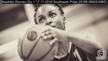 Kestrels Women Div 1 17 11 2018 Southwark Pride : (Photo by Nick Guise-Smith / MirrorBoxStudios)