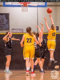 Kestrels Women Div2 17 11 2018 Brighton Basketball : (Photo by Nick Guise-Smith / MirrorBoxStudios)