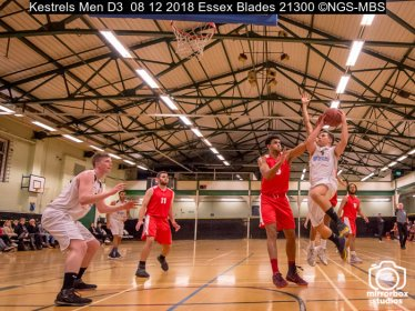 Kestrels Men D3 08 12 2018 Essex Blades : (Photo by Nick Guise-Smith / MirrorBoxStudios)
