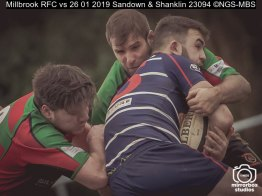 Millbrook RFC vs 26 01 2019 Sandown & Shanklin : (Photo by Nick Guise-Smith / MirrorBoxStudios)
