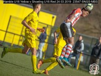 Hamble U16 Yellow v Shoeling U16 Red 24 03 2019 : (Photo by Nick Guise-Smith / MirrorBoxStudios)