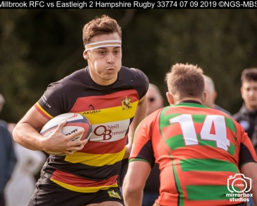 Millbrook RFC vs Eastleigh 2 Hampshire Rugby : (Photo by Nick Guise-Smith / MirrorBoxStudios)