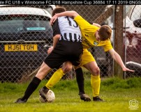 Hamble FC U18 v Wimborne FC U18 Hampshire Cup : (Photo by Nick Guise-Smith / MirrorBoxStudios)