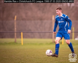 Hamble Res v Christchurch FC League : (Photo by Nick Guise-Smith / MirrorBoxStudios)
